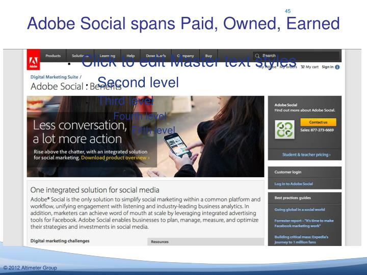 Adobe Social spans Paid, Owned, Earned
