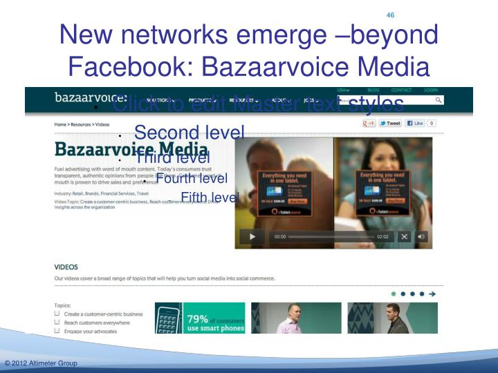 New networks emerge –beyond Facebook: Bazaarvoice Media