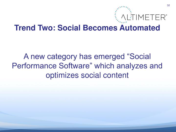 Trend Two: Social Becomes Automated