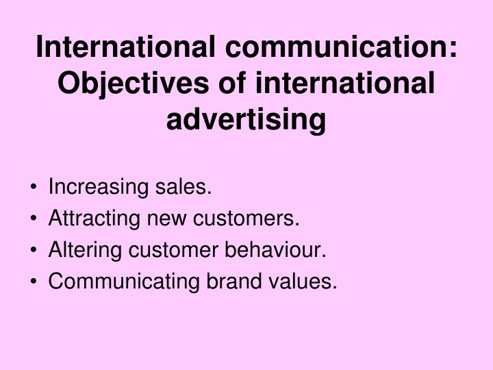International communication: