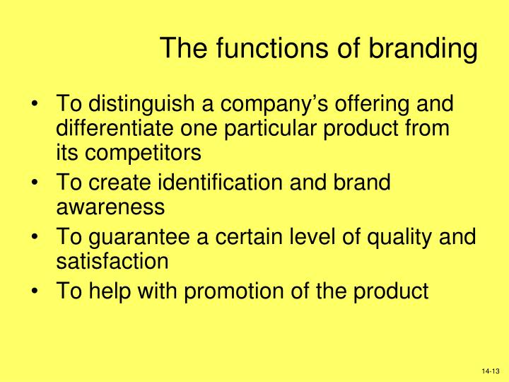 The functions of branding
