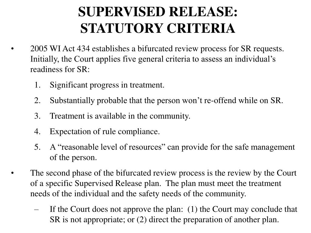 SUPERVISED RELEASE: