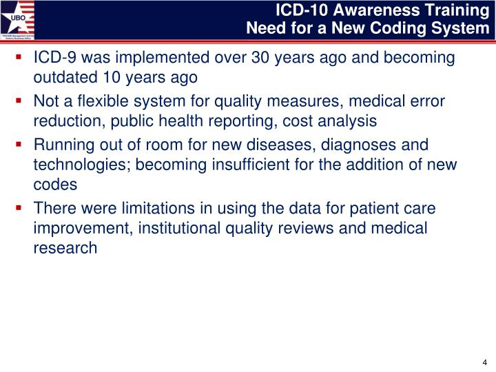 ICD-10 Awareness Training