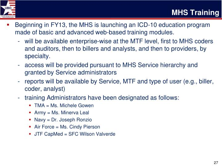 MHS Training
