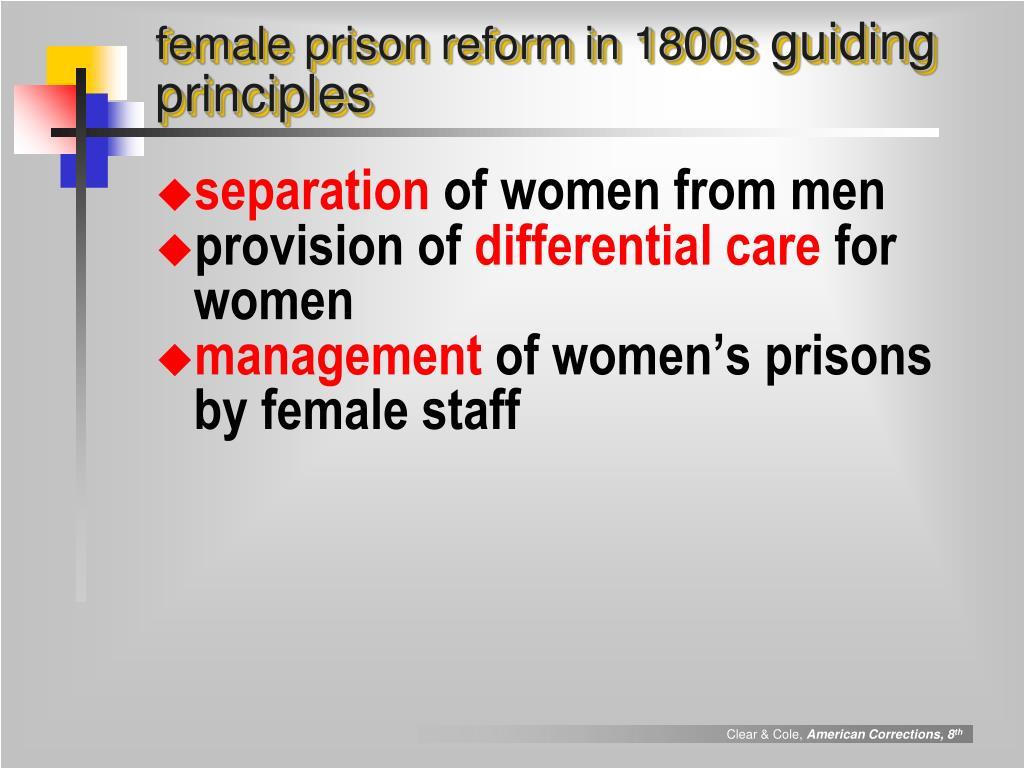 female prison reform in 1800s