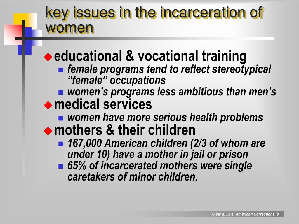 key issues in the incarceration of women
