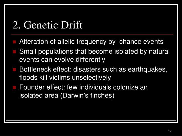 2. Genetic Drift