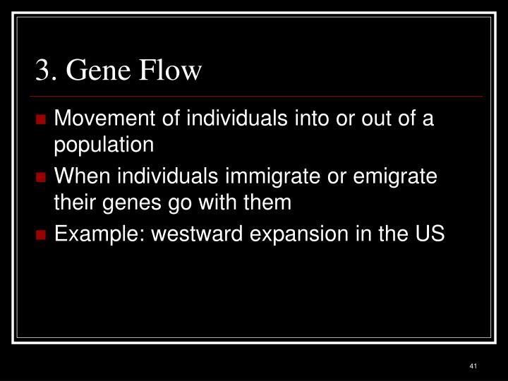 3. Gene Flow