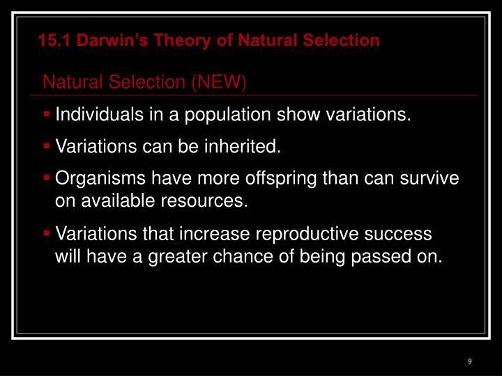 15.1 Darwin's Theory of Natural Selection