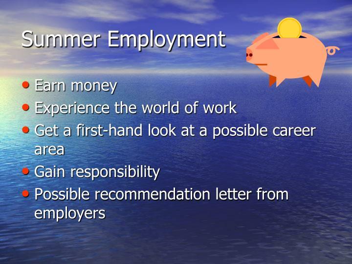 Summer Employment