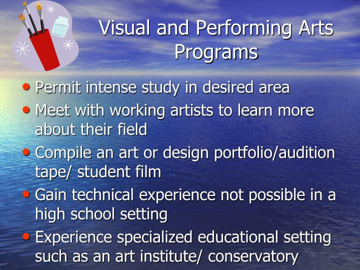 Visual and Performing Arts Programs