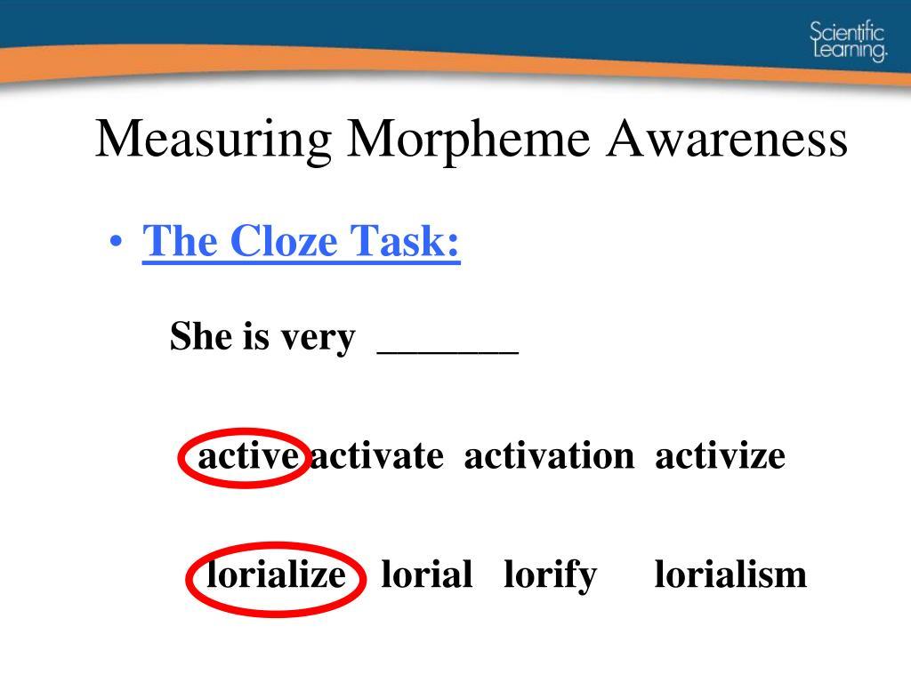 Measuring Morpheme Awareness