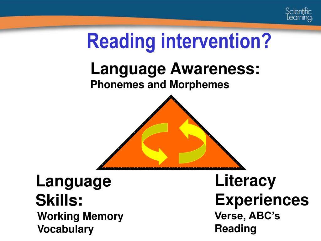 Reading intervention?
