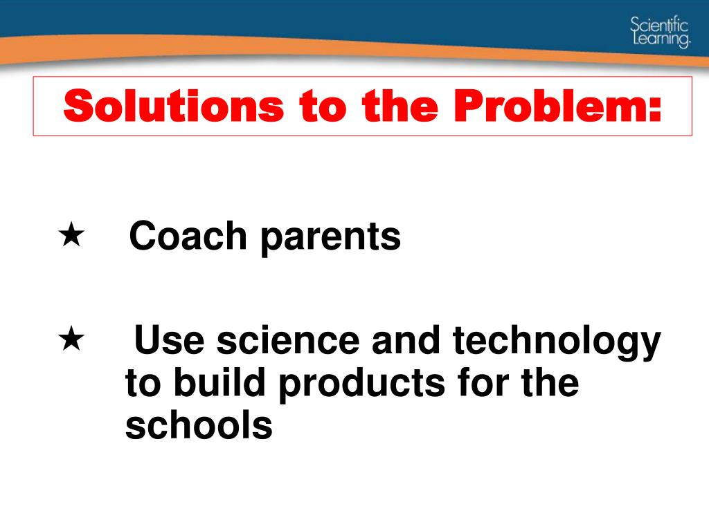 Solutions to the Problem: