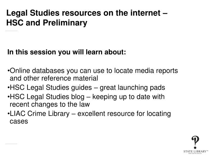 Legal studies resources on the internet hsc and preliminary