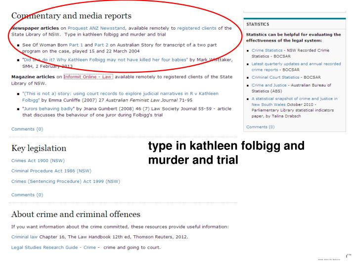 type in kathleen folbigg and murder and trial