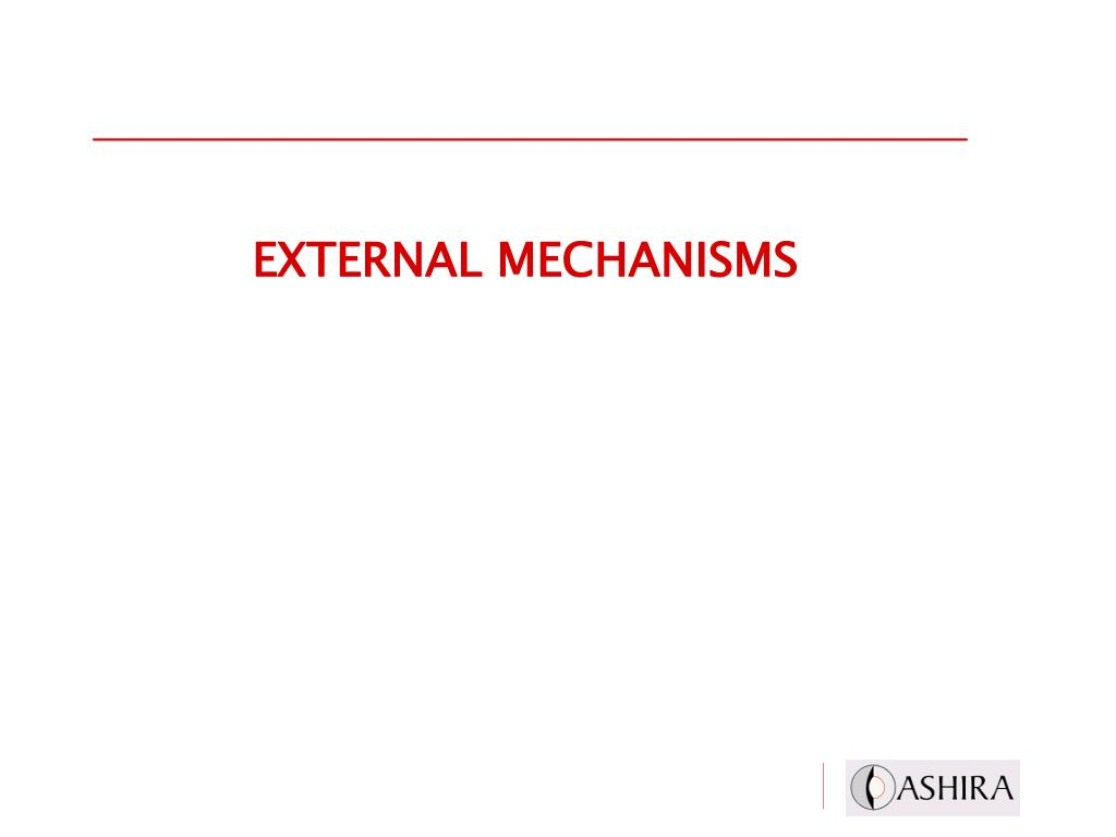EXTERNAL MECHANISMS