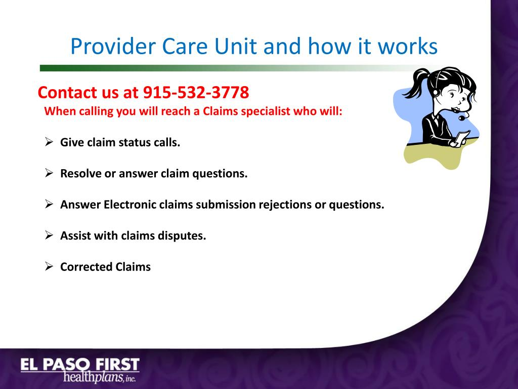 Provider Care Unit and how it works