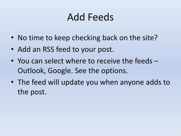 Add Feeds