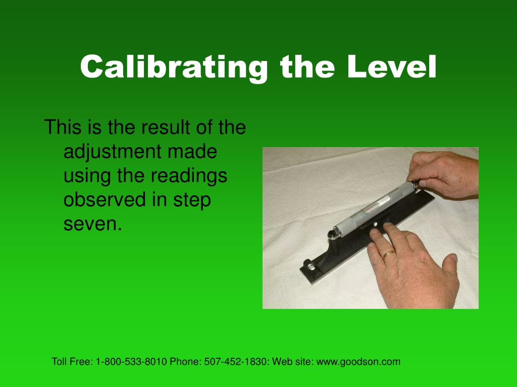Calibrating the Level