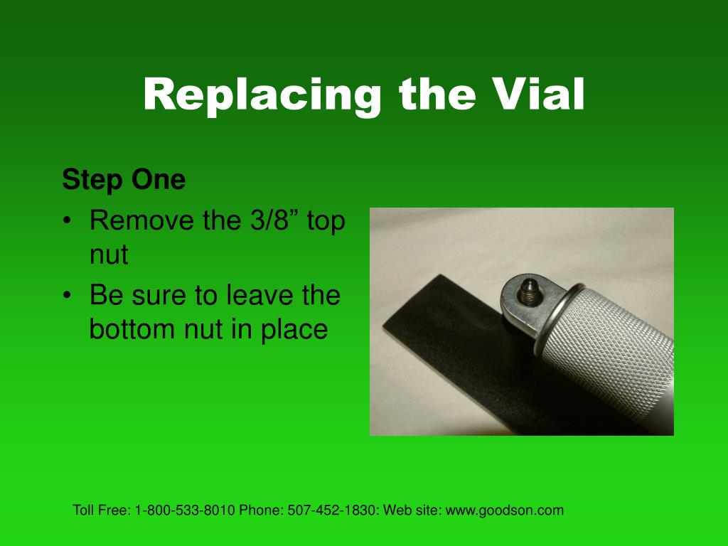 Replacing the Vial
