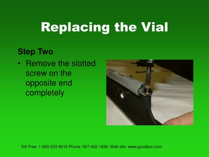 Replacing the vial3