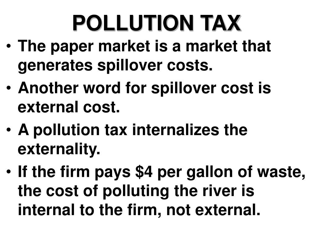 POLLUTION TAX