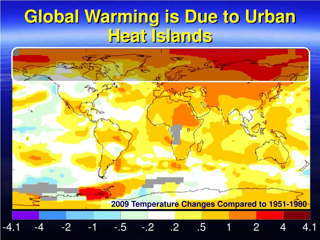 Global Warming is Due to Urban Heat Islands