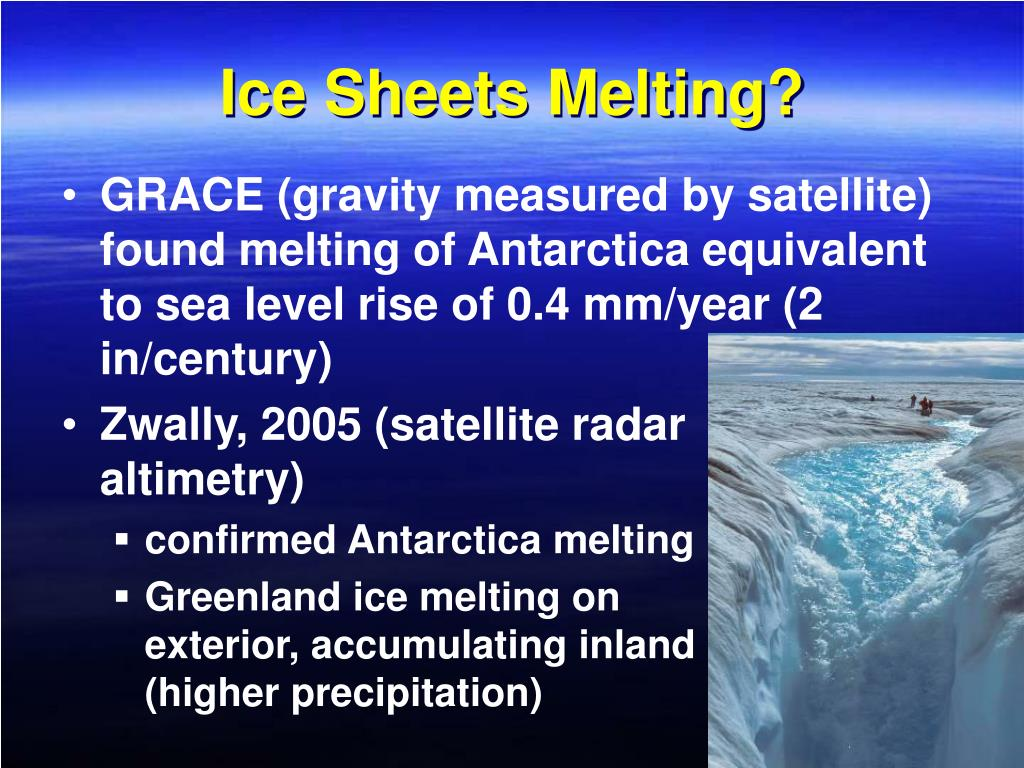 Ice Sheets Melting?