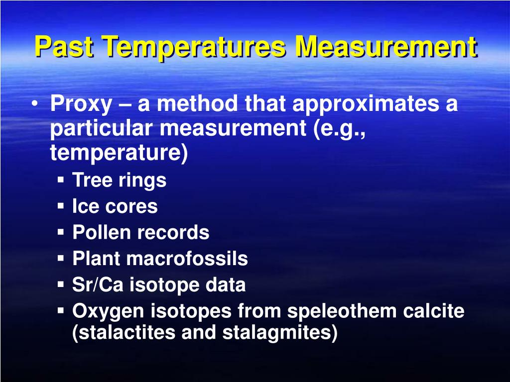 Past Temperatures Measurement