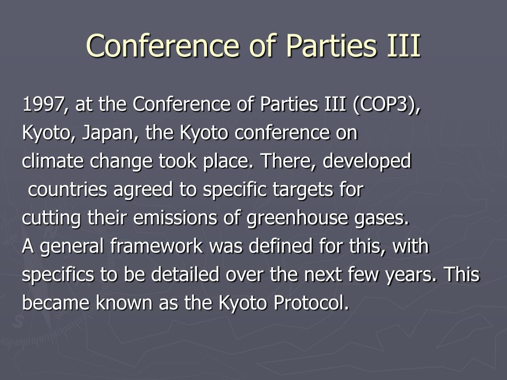 Conference of Parties III