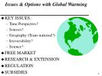 issues options with global warming