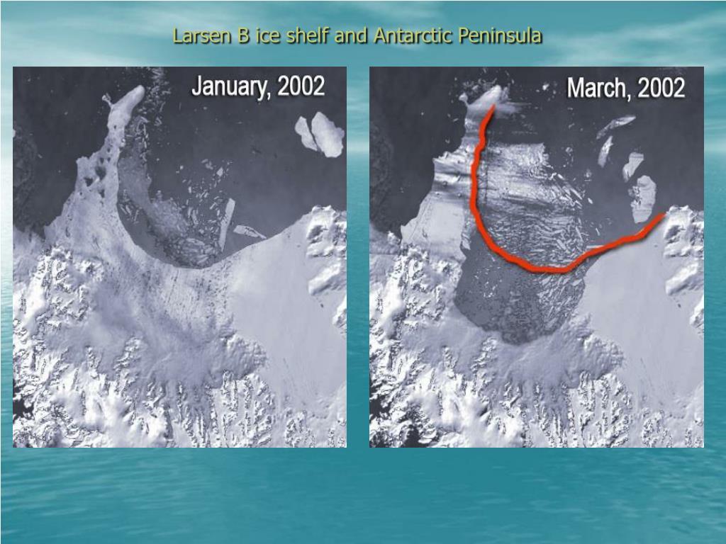 Larsen B ice shelf and Antarctic Peninsula