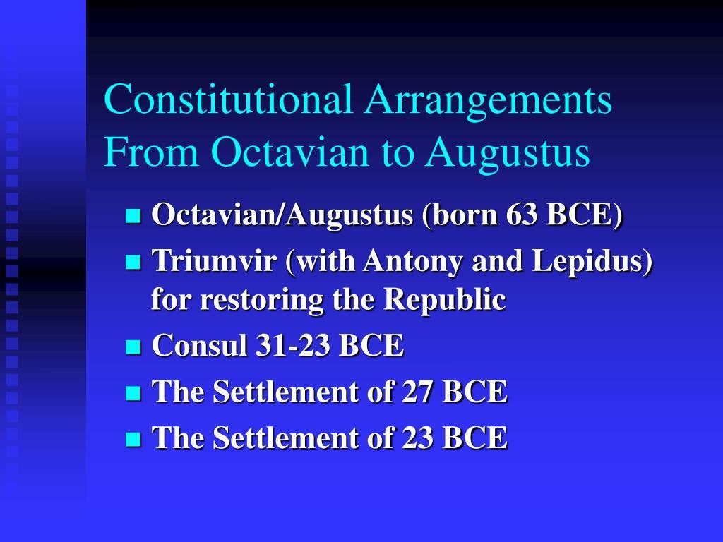Constitutional Arrangements