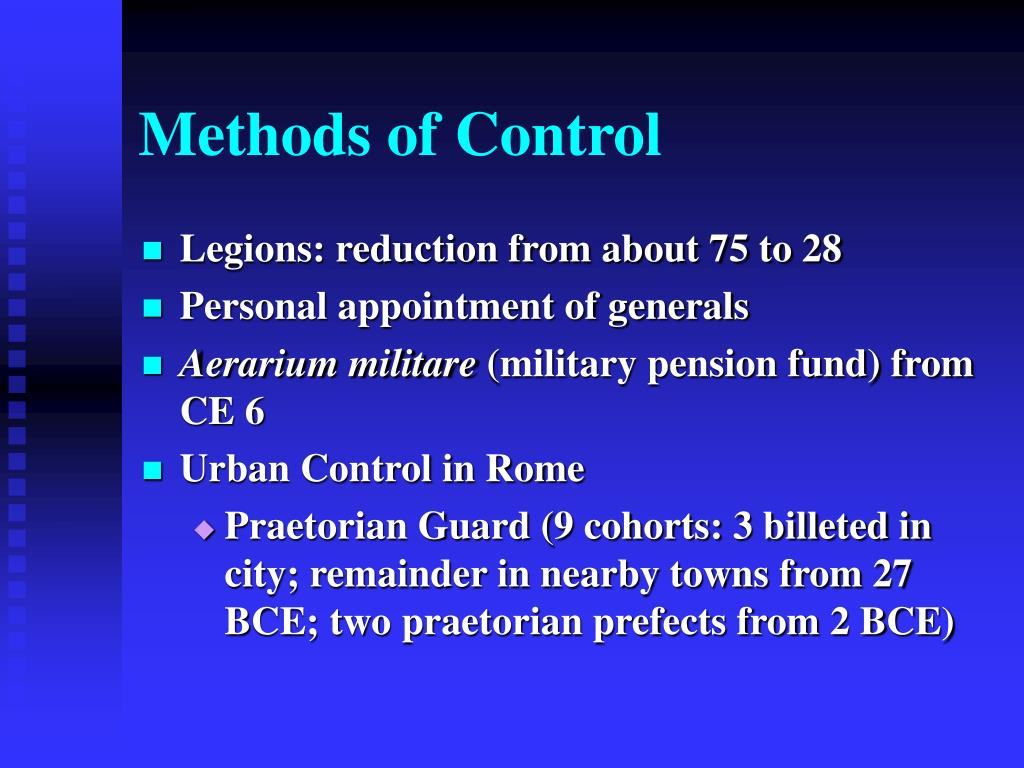 Methods of Control
