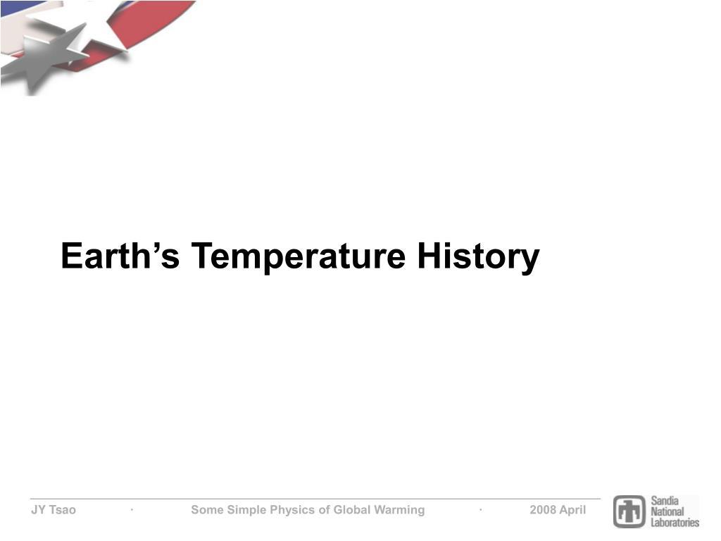 Earth's Temperature History