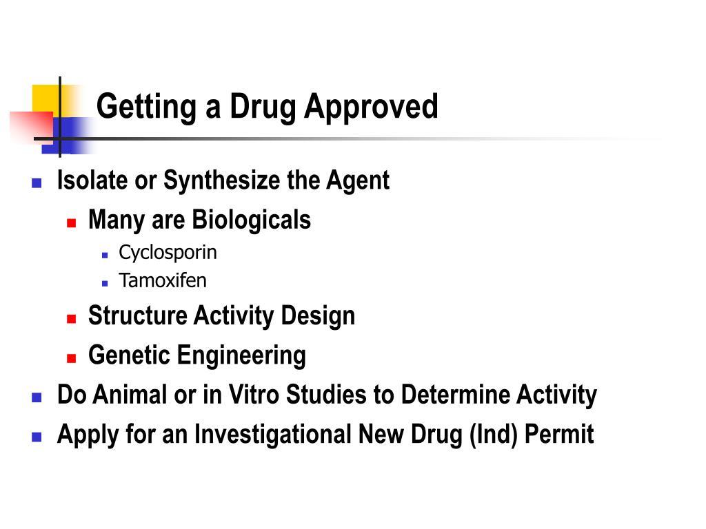 Getting a Drug Approved