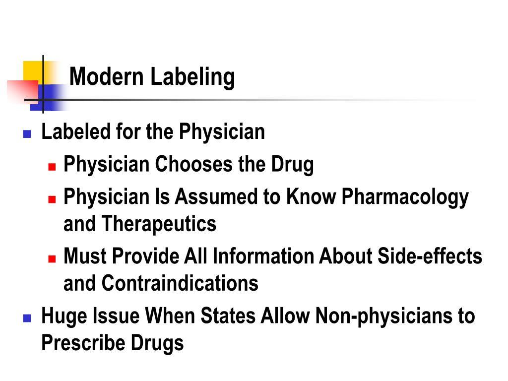 Modern Labeling