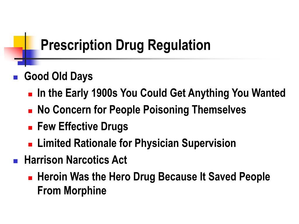 Prescription Drug Regulation