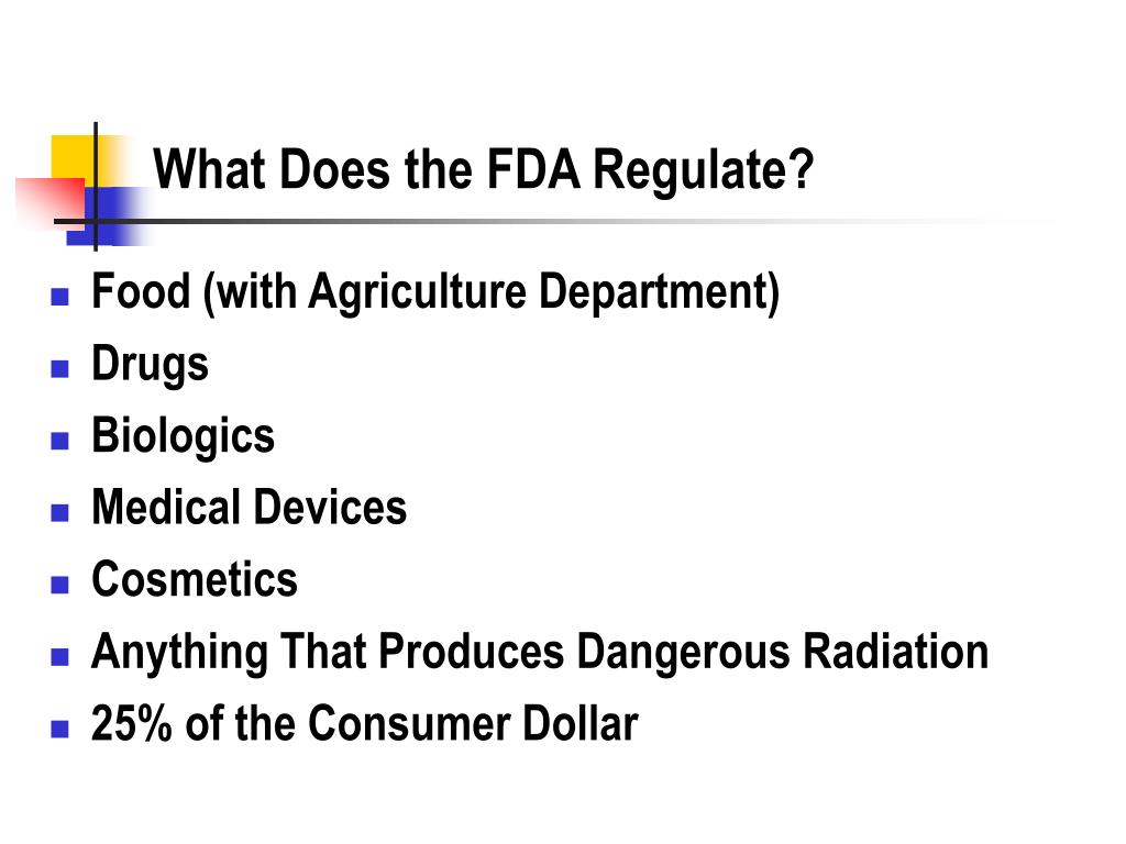 What Does the FDA Regulate?