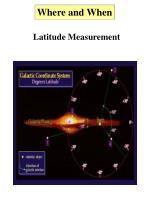 latitude measurement