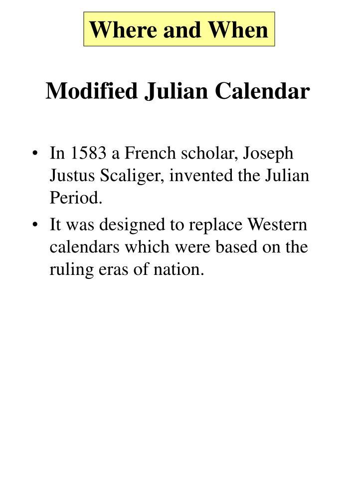 Modified Julian Calendar