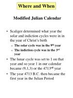 modified julian calendar5