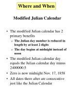 modified julian calendar7