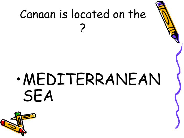 Canaan is located on the ?