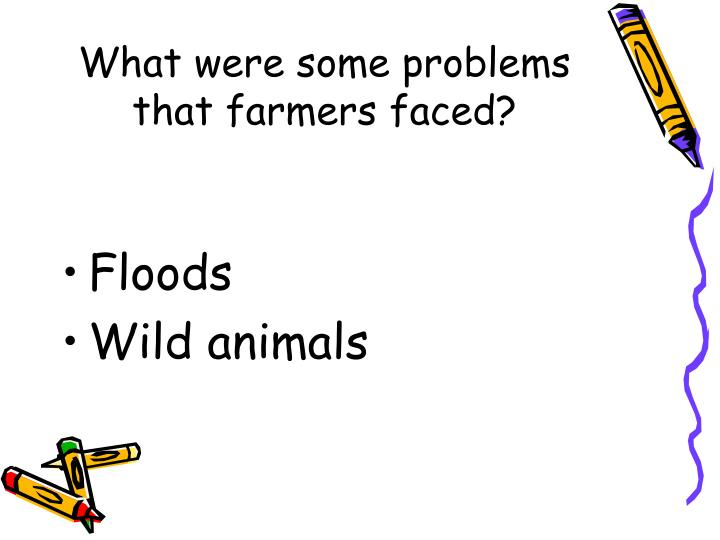 What were some problems that farmers faced?