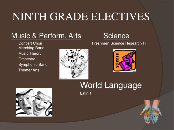 NINTH GRADE ELECTIVES