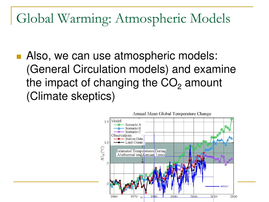 Global Warming: Atmospheric Models