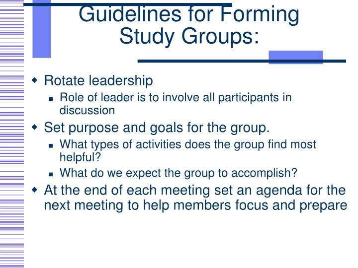 Guidelines for Forming