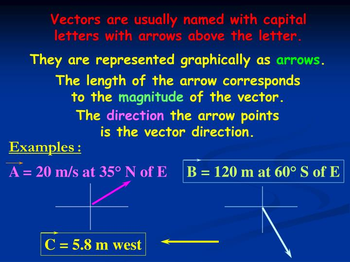 Vectors are usually named with capital